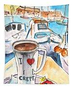Coffee Break In Heraklion In Crete Tapestry