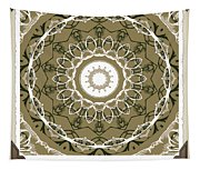 Coffee Flowers 1 Olive Medallion Scrapbook Tapestry