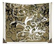Coffee Flowers 1 Olive Scrapbook Tapestry