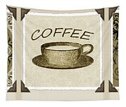 Coffee Flowers 1 Olive Scrapbook Triptych Tapestry