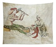 coinage - Gothic mural Tapestry
