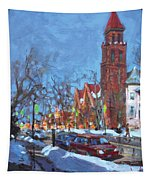 Cold Morning In Elmwood Ave  Tapestry