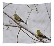 Cold Yellow Finch Walk Tapestry