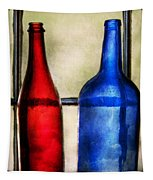 Collector - Bottles - Two Empty Wine Bottles  Tapestry