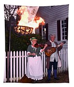 Colonial Musicians By Firelight Tapestry