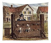 Colonial Stocks Tapestry
