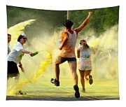 Color Run Happy Tapestry