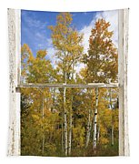 Colorado Autumn Aspens Picture Window View Tapestry