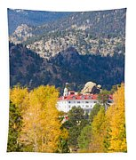 Colorado Estes Park Stanly Hotel Autumn View Tapestry