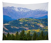 Colorado Rocky Mountain Autumn View Tapestry