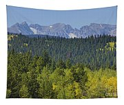Colorado Rocky Mountain Continental Divide Autumn View Tapestry