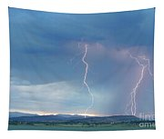 Colorado Rocky Mountains Foothills Lightning Strikes 2 Tapestry