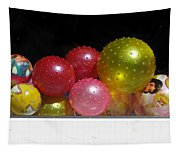 Colorful Balls In The Shop Window Tapestry