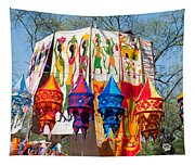 Colorful Banners At Surajkund Mela Tapestry