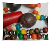 Colorful Beads In Chains Tapestry