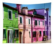 Colorful Burano Italy Tapestry
