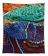 Colorful Fishing Nets 2 Tapestry