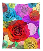 Colorful Floral Design  Tapestry