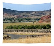 Colorful Hills Of Wyoming Tapestry