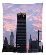 Colorful Morning Sky In Philly Tapestry