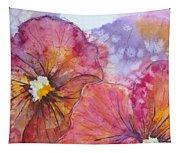 Colorful Pansies Tapestry