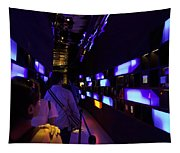 Colorful Passage Inside The Singapore Flyer Tapestry
