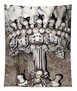 Column From Human Bones And Sku Tapestry