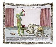 Commedia Delarte, 18th C Tapestry