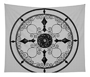 Compass In Black And White Tapestry