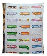 Condom Compendium Sign Thailand Tapestry