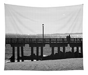 Coney Island Coast In Black And White Tapestry
