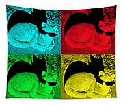 Cool Cat Pop Art Tapestry