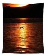 Coots In The Sunset Tapestry