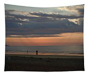 Coral Haze Sunrise Tapestry