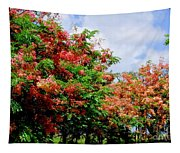 Coral Shower Trees Tapestry