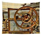 Corn Husker Machine Tapestry