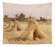 Corn Stooks By Bray Church Tapestry