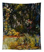 Corner Of A Pond With Waterlilies Tapestry