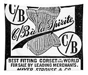 Corset Advertisement, 1888 Tapestry