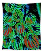 Cosmic Watermelon Leaves Tapestry