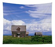 Cottage At Bay Of Chaleur Tapestry