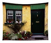Cottage At Bushmills, Co Antrim, Ireland Tapestry
