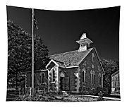 Country Church Monochrome Tapestry