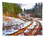 Country Lane Holiday Card Tapestry