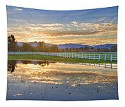 Country Sunset Reflection Tapestry