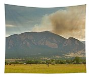 Country View Of The Flagstaff Fire Panorama Tapestry
