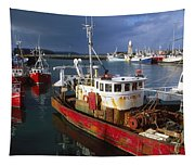 County Waterford, Ireland Fishing Boats Tapestry
