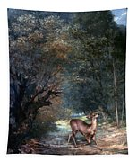 Courbet: Hunted Deer, 1866 Tapestry