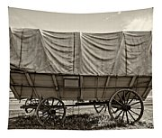 Covered Wagon Sepia Tapestry