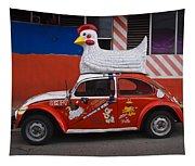 Cowboy Chicken Tapestry